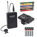 Samson Go Mic Mobile Professional Lavalier Wireless System for Mobile Video Bundled with 2 x AA Batteries and Cable Ties