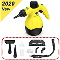 MLMLANT Multiuso Purificador Limpiador de vapor para la eliminación de manchas, alfombras, cortinas, control de errores de cama, asientos de coche (9Accesorios)