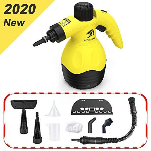 MLMLANT Dampfreiniger Mehrzweck Handdruckdampfreiniger für Fleckenentfernung, Teppiche, Vorhänge, Bettwanzensteuerung, Autositze MEHRWEG (350ML)