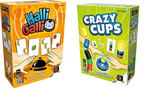 UDC - Juego de 2 juegos de mesa GIGAMIC - Halli Galli - Crazy Cups