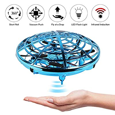 KETEP 2019 Upgrade Flying Toys Drones for Kids, Mini Drone Helicopter, Infrared Sensor Auto with 360° Rotating Hand Controlled Drone Toys for Boys or Girls by Amazingbuy