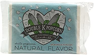 product image for Double K Popcorn Microwave Natural Popcorn, 3 oz (Pack of 18)