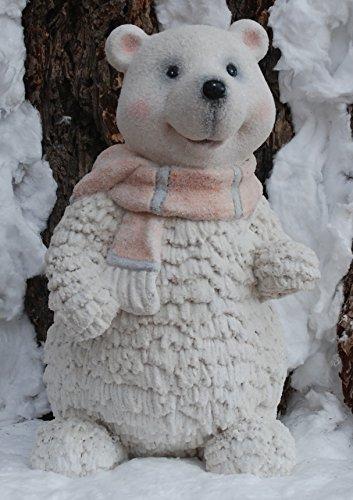 Décoration figure d'hiver ours avec l'écharpe rose - noel, rosa, scintiller