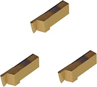 Grooving Insert for Stainless Steel Without Interrupted Cuts TiN Coated Carbide THINBIT 3 Pack LGT024D5RFRC 0.024 Width 0.072 Depth Full Radius
