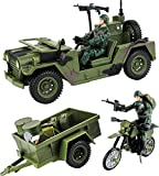 Click N' Play Military Logistics Transport Unit 16 Piece Play Set with Accessories.