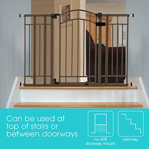 Summer Infant Multi-Use Deco Extra Tall Walk-Thru Gate, Bronze (28.5 - 48 Inch)