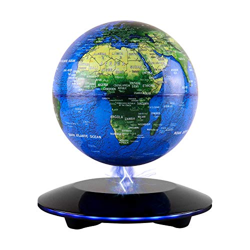 JOWHOL Magnetic Levitation Floating Globes with 6in Illuminated Globe, Touch...