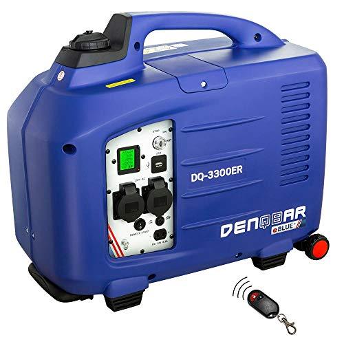 DENQBAR 3,3 kW Inverter Stromerzeuger Notstromaggregat Generator mit eBLUE® Technologie, E-Start und Funk