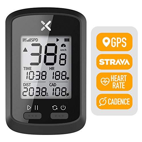 XOSS Ciclocomputer G + Tachimetro Wireless GPS Bici da Strada Impermeabile MTB Bicicletta Bluetooth Ant + con Computer da Ciclismo Cadenza (XOSS G+)