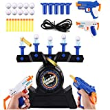 HHIAK666 Air Electric Shoting Hover Floating Target Game Set, Foam Dart Blaster Shooting Ball Scoring Toys, Gran Regalo para NiñOs Y NiñAs Azul