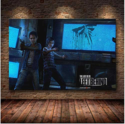 Liuheng Póster del Juego The Last of Us Print Zombie Survival Horror Action HD Poster Canvas Painting Modern Home Decor For Wall Art 50x70cm Q-104