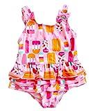 Meeyocc - Bikinis Bañador de Natación para Niñas Traje Tranpirable CóModo de Playa Burga Bebés Bañador de Estampados Lindos para Infantiles de 5 Años