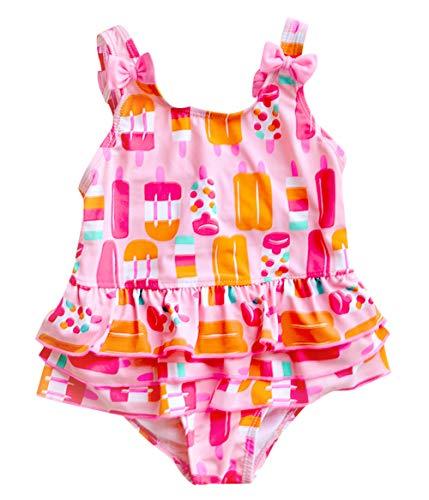 Meeyocc - Niñas Bañadodr Traje Falda de Natación para Bebés Niña Bikinis Ajustable Suave de Playa con Bow-Knot para Infantiles de 3 Años