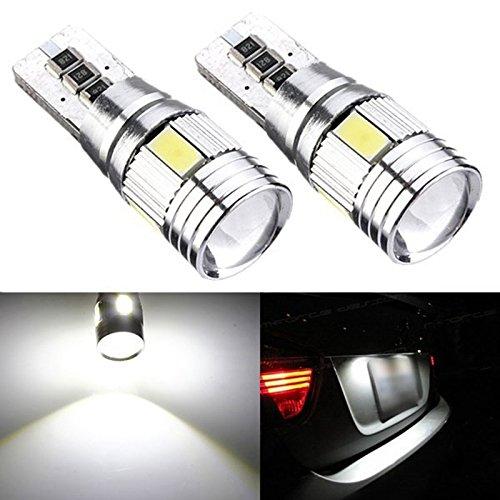 Gezan(TM) 2pcs T10 501 158 W5W 5630 LED 6 SMD Canbus Error Free White High Power Car Auto Interior Side Wedge Light Bulb 12V 6500K
