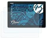 Bruni Schutzfolie kompatibel mit Asus ZenPad 10 Folie, glasklare Bildschirmschutzfolie (2X)