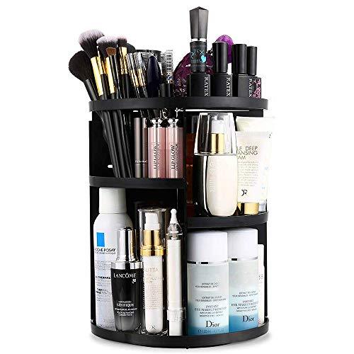 Artbisons Organizzatore di Trucco, StoccaggioCosmetico Regolabile con Rotazione a 360 Gradi e Scatola di Esposizione per Cosmetici, Scatola Organizer Cosmetici con 7 Strati (Nero)