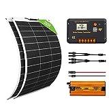 ECO-WORTHY Kit Inversor Solar 260W 12V: 2 Paneles Solares...