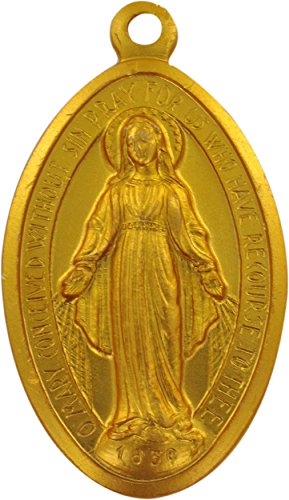 Ferrari & Arrighetti Medalla Milagrosa de Aluminio Dorado - 2,6 cm (Paquete de 5 Piezas)