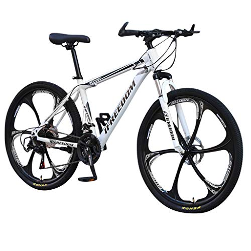 IFOUDNYOU Mountainbike Fully 26 Zoll 21 Gang Geschwindigkeit Fahrrad 6 Messer Aluminum Rostfreier Stahl MTB Erwachsene Jugend Cityräder