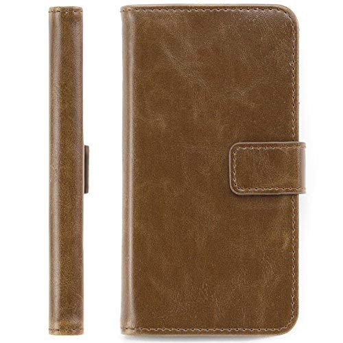 Okuli Vintage Style Leather Flip Wallet Cover Case For Samsung Galaxy S6...