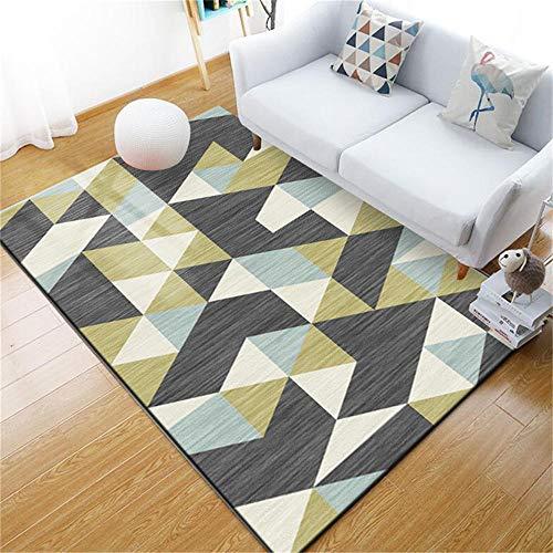 WQ-BBB Aposentoes La Alfombrae El Juego Diseño de Estilo geométrico Azul Amarillo Blanco Negro alfombras Salon Modernas 160X230cm