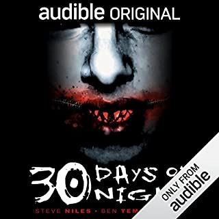 30 Days of Night                   By:                                                                                                                                 Steve Niles,                                                                                        Ben Templesmith,                                                                                        R. S. Belcher (adaptation)                               Narrated by:                                                                                                                                 Chris Andrew Ciulla,                                                                                        Mark Boyett,                                                                                        Kevin T. Collins,                   and others                 Length: 1 hr and 3 mins     1,435 ratings     Overall 3.7