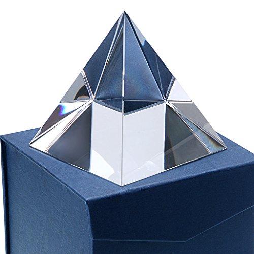 Sumnacon Piramide in vetro, fermacarte, ideale come regalo, decorazione, accessorio per fotografie, Vetro, 10 cm