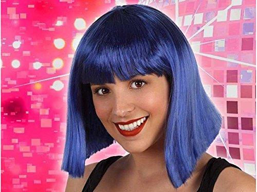 Atosa 29790 pruik blauw, unisex – volwassenen, uniseks