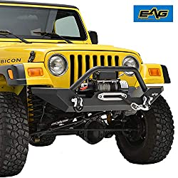 The Front Bumper with Winch Plate Black