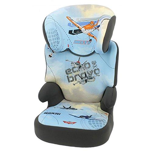 Mycarsit Disney - Silla infantil para coche con respaldo, grupo 2/3(para niños de 15a 36kg), diseño de aviones