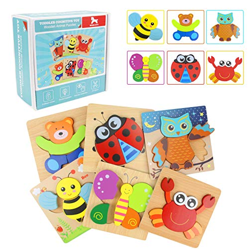 Wooden Jigsaw Puzzles, WOOD CITY Animal Pattern...