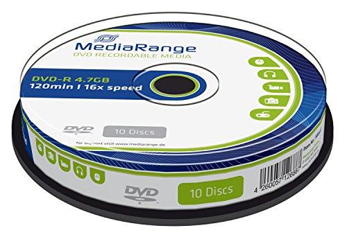MediaRange MR452 DVD-R 4.7GB (16x Speed, 10 Stück)