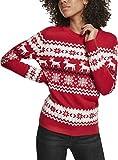 Urban Classics Damen Pullover Ladies Norwegian Christmas Ugly Sweater Sweatshirt, Mehrfarbig (X-Masred 02364), X-Small (Herstellergröße: XS)