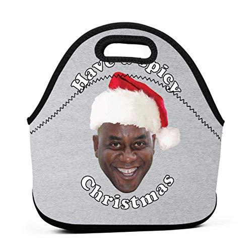 Ainsley Harriott haben eine würzige weihnachtliche wiederverwendbare Mittagstasche Wasserdichte Picknick-Brotdose für das Gehen auf der Schulstraße und wasserdichten warmen Kühler im Büro