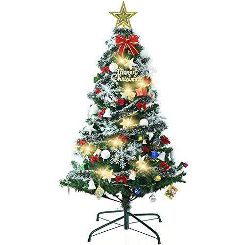 クリスマスツリー 大型 ツリー 150cm LEDイルミネーションライト 組立簡単 収納便利 庭飾り/クリスマス飾りプレゼント クリスマスグッズ 商店 部屋 保護用手袋付き 日本語取扱説明書