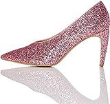 find. Décolleté Glitterate Donna, Rosa (Pink), 38 EU