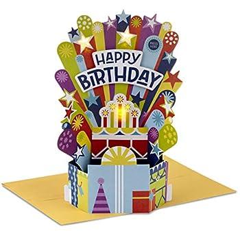 Hallmark Paper Wonder Pop Up Birthday Card with Music  Birthday Cake Happy by Pharrell Williams