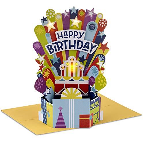 Hallmark Paper Wonder Pop Up Birthday Card with Music (Birthday Cake, Happy by Pharrell Williams)