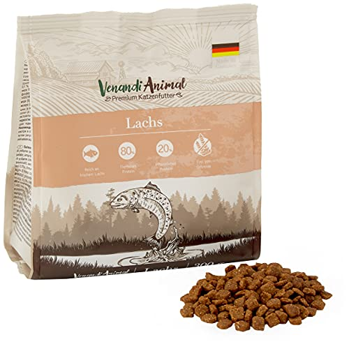 Venandi Animal Salmone Come Mangime Secco, Senza Cereali - 300 g