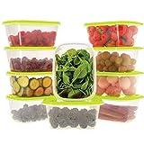 Oursson Recipientes Plastico para Alimentos Almacenaje Cocina con Tapas Verde | Set de 10 Piezas x...