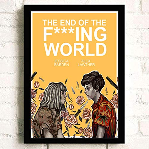 lubenwei The End of the F***ing World Movie HD Star Wall Art Home Decor Canvas Painting Art Nordic Decoration Room Poster 40x60cm No frame (WA-494)