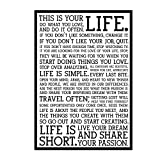 KAAF Holstee Manifesto Poster Life Motivational Inspiring Painting Art Posters for Home Wall Living Room Decor -20x28 Inch No Frame 1 PCS