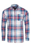 Jack & Jones jjvcERIC Shirt L/S One Pocket Camisa, Blanco/Azul, L para Hombre