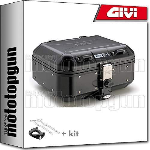 givi maleta trekker dolomiti dlm30b + porta-equipaje compatible con honda xadv x-adv...
