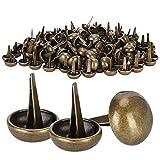 200 Uds tachuelas de setas tachuelas de pies planos remaches de pies de bronce DIY bolsas de cuero accesorios para manualidades 15mm