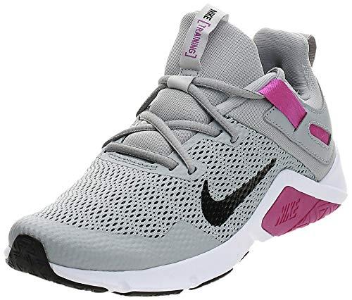 Nike Damen CD0212-003 Laufschuh, Light Smoke Grey/Black-Vivid Purple, 39 EU