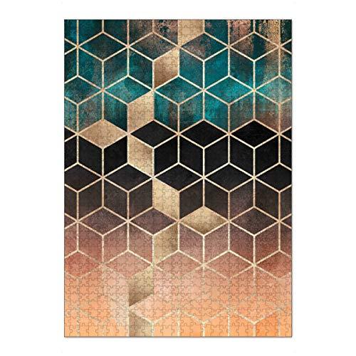 artboxONE Ravensburger-Puzzle XL (1000 Teile) Abstrakt Ombre Dream Cubes - Puzzle Grafik Entwurf Geometrie