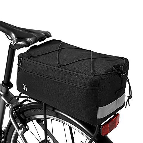 Borsa Termica per Bici 8L Resistenza allo Strappo Grande Capacità 37x16x16cm, Pacchetto Posteriore per Bicicletta Sacchetto dei Bagagli per Ciclismo Viaggio Picnic Spiaggia Campeggio