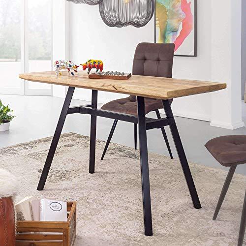 Nancy's industriële eettafel - Natuurlijke keukentafel - Mangohout - Eetkamertafel - 120 x 60 cm