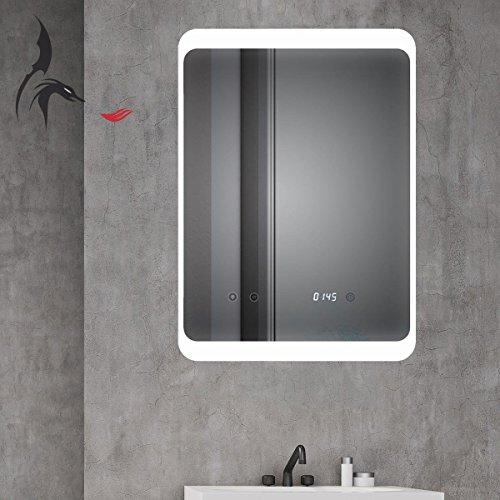 HOKO® LED Bad Spiegel beleuchtet mit Digital Uhr  ANTIBESCHLAG SPIEGELHEIZUNG Bild 2*